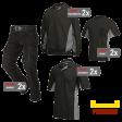 Kledingpakket Tricorp Zwart met grijs ( Premium pakket)