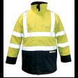 Parka M-Wear Magoma 2666 FR-AST | Fluor geel met Blauw