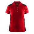Polo Blaklader 3390 Dames bi-colour rood/zwart