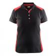 Polo Blaklader 3390 Dames bi-colour zwart/rood