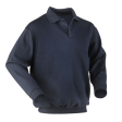 Polosweater Workman met elastiek in taille | navy