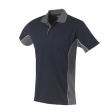 Poloshirt Workman Bi-colour k/m | Navy met Grijs