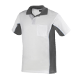 Poloshirt Workman Bi-colour k/m | Wit met Grijs