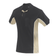 Poloshirt Workman Bi-colour k/m | Zwart met Khaki.