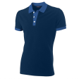 Poloshirt Tricorp PBF210 Fitted bi-colour nay/korenblauw
