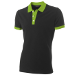 Poloshirt Tricorp PBF210 Fitted bi-colour zwart/lime