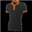 Poloshirt Tricorp PBF210 Fitted bi-colour zwart/oranje