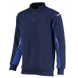 Polosweater Orcon capture Joe bi-colour navy met korenblauw