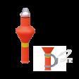 Reddingsboeilicht oranje kunststof ROSR (art.10.05, lid 1).