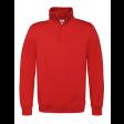 Sweater B&C WUI22 met Korte Rits | Rood