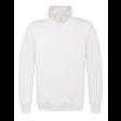 Sweater B&C WUI22 met Korte Rits | Wit