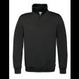 Sweater B&C WUI22 met Korte Rits | Zwart