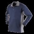 Polo sweater Workman Bi-colour zonder boord | navy met grijs