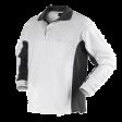 Polo sweater Workman Bi-colour zonder boord | Wit met grijs
