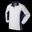 Polo sweater Workman Bi-colour zonder boord   Wit navy