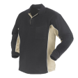 Polo sweater Workman Bi-colour zonder boord | Zwart met Khaki