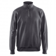 Sweater Blaklader 3369 met rits in kraag donker grijs