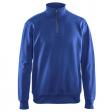 Sweater Blaklader 3369 met rits in kraag korenblauw
