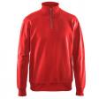 Sweater Blaklader 3369 met rits in kraag rood