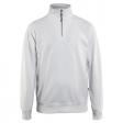Sweater Blaklader 3369 met rits in kraag wit