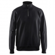 Sweater Blaklader 3369 met rits in kraag zwart