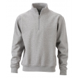 Sweater James & Nicholson JN831 - Grijs melee