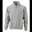 Sweater James & Nicholson JN831 - Grijs melee
