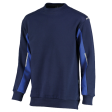 Sweater Orcon capture Ronald bi-colour navy met korenblauw