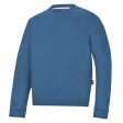 Sweater Snickers 2810 ronde hals ocean blauw