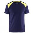 T-shirt Blaklader 3379 navy met geel