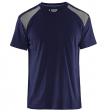 T-shirt Blaklader 3379  navy met grijs