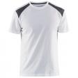 T-shirt Blaklader 3379 wit met grijs