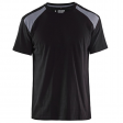 T-shirt Blaklader 3379 zwart met grijs