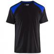 T-shirt Blaklader 3379 zwart met korenblauw