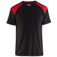T-shirt Blaklader 3379 zwart met rood