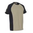 Tshirt Mascot Potsdam tweekleuring ronde hals | Khaki met zwart