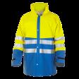 Regenparka Hydrowear Vernon fluor geel met korenblauw