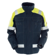 Winterjack Tranemo 5700 - Vlamvertragend navy met fluor geel