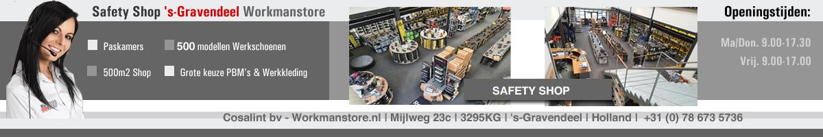 Bezoek ook eens de Safety Shop met keuze uit meer dan 250 modellen Werkschoenen in 's-Gravendeel.. Bel. 078 673 5736