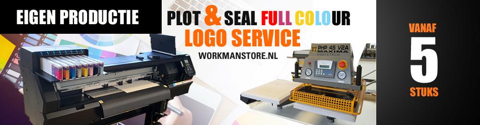 Logo bedrukservice - eigen productie Workmanstore.nl
